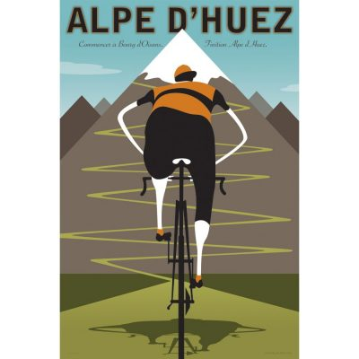 Alpe d'Huez | Iconic Cycling Art Print product photo.