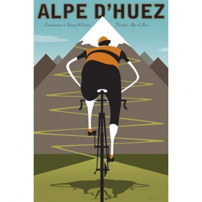 Alpe d'Huez | Iconic Cycling Art Print product photo.
