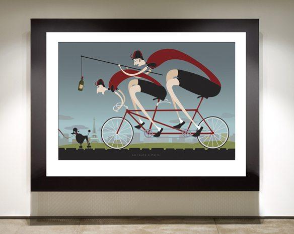 Road to Paris framed