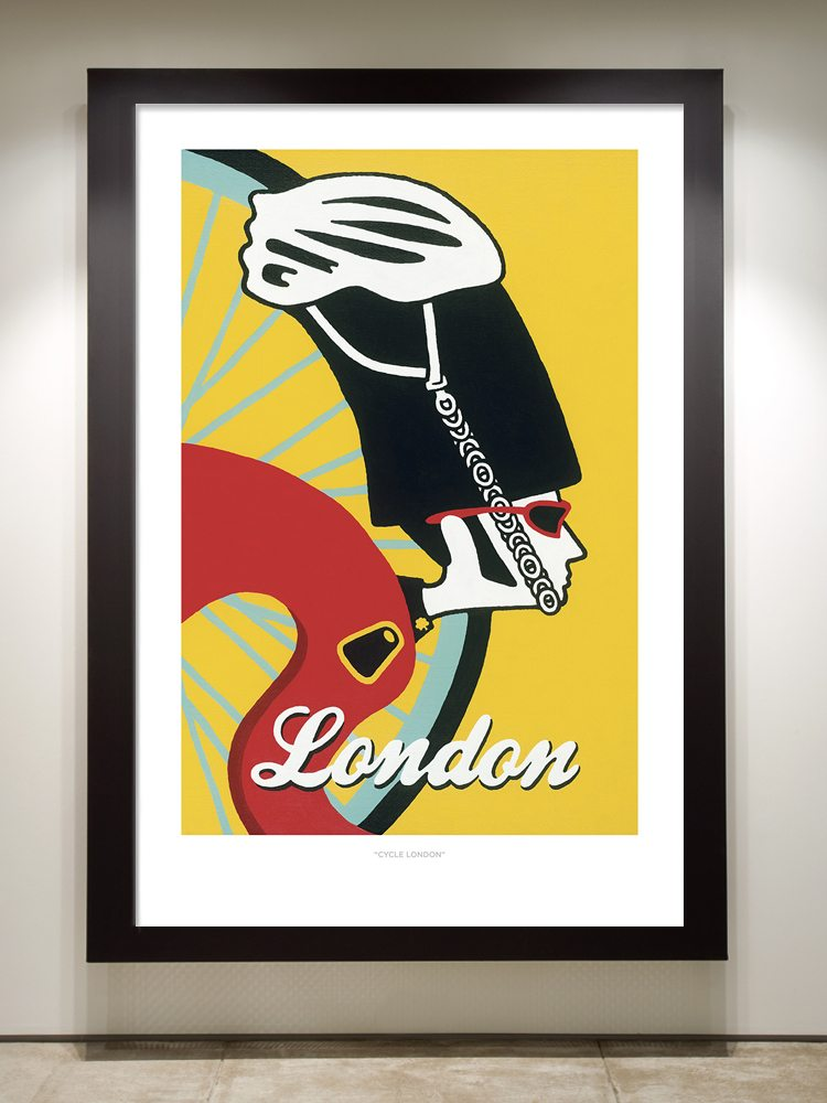 Cycle London Framed