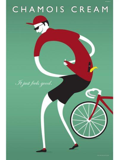 Chamois Cream | Cycling Art Print