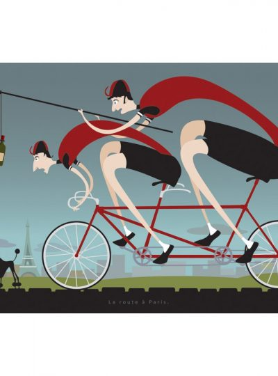 Road to Paris | Cycling Art Print