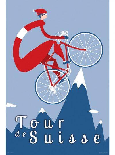 Tour de Suisse | Cycling Art Print