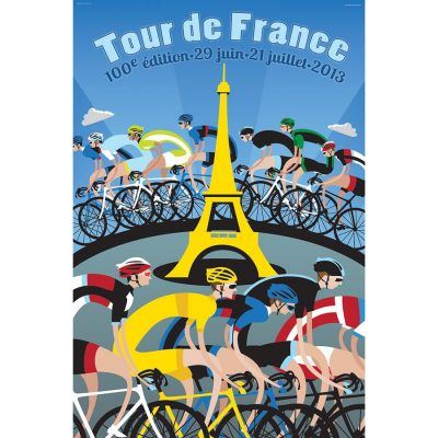 TdF Eiffel Tower | Cycling Art Print