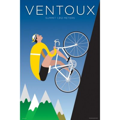 Ventoux | Iconic Cycling Art Print product photo.