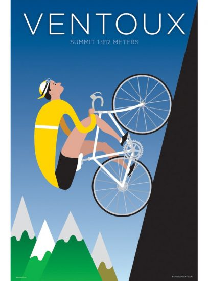 Ventoux | Iconic Cycling Art Print product photo.