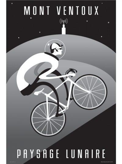 Ventoux Moonscape | Cycling Art Print