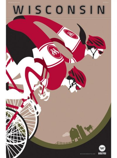 Wisconsin Bike Fed | Cycling Art Print
