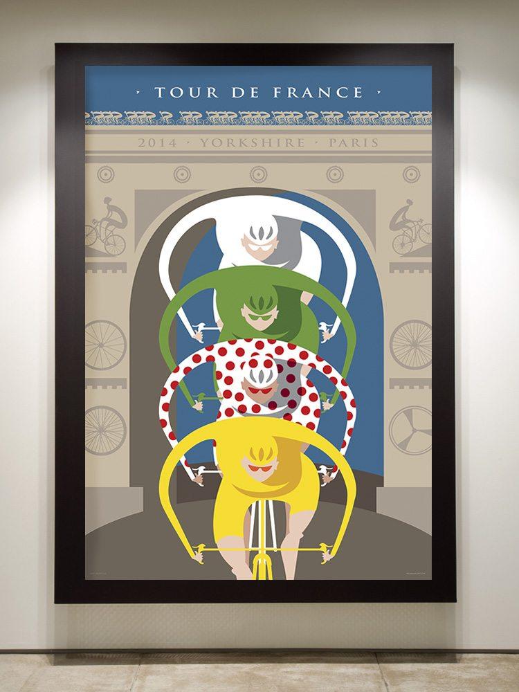 Tour de France Triomphe framed