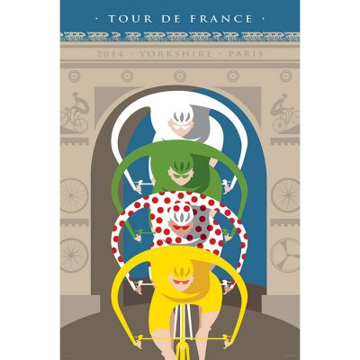Tour de France Triomphe | Cycling Art Print