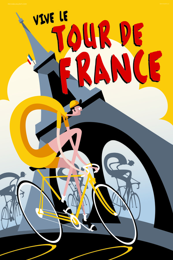 Vive le Tour Cycling Poster