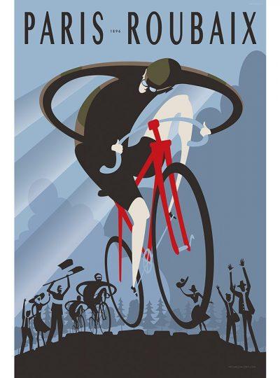 Paris Roubaix 1896 | Cycling Art Print