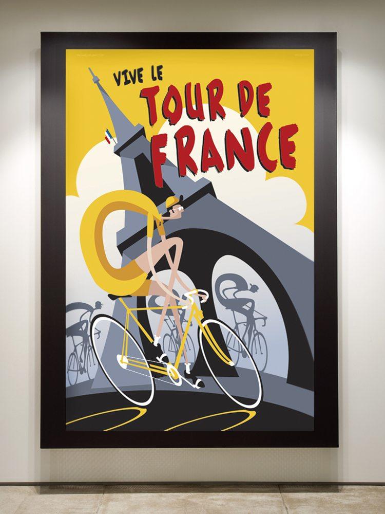 Vive le Tour de France if you framed it in black.