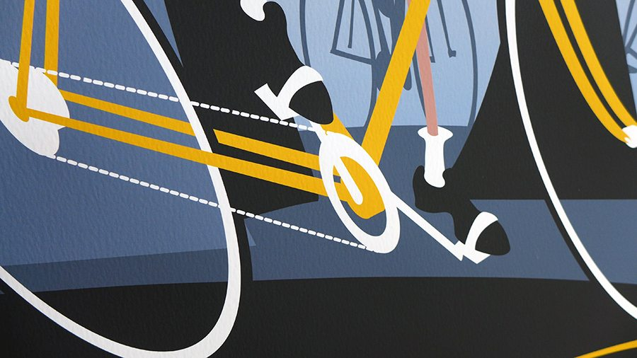 Vive le Tour detail printed on paper.
