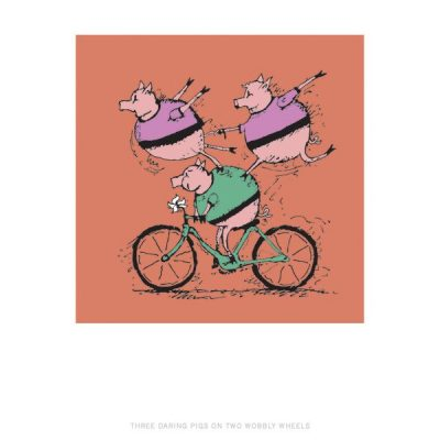 VeloTykes Three Biking Pigs 11×14
