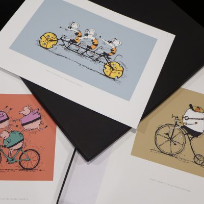 VeloTykes Cycling Art 13×19 Print Set