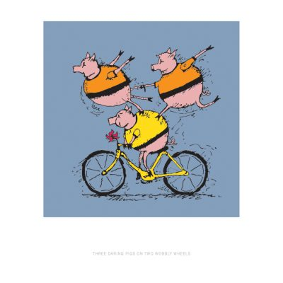 VeloTykes Three Biking Pigs 13×19