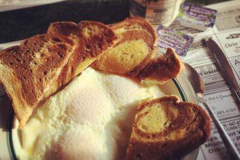 Eggs, toast and wisdom.