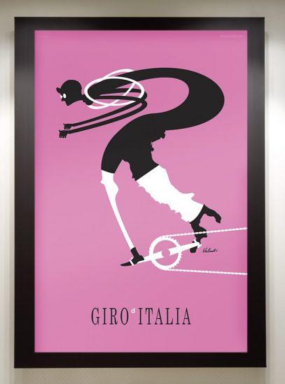 Giro in a black frame