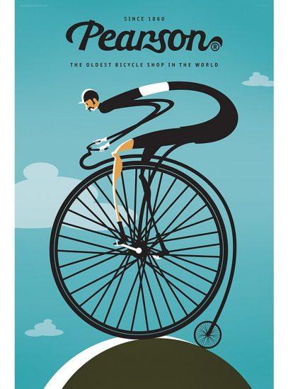Pearson Cycling Art Print   Valenti