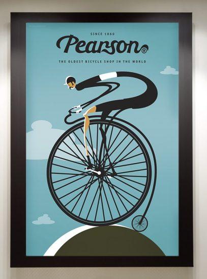 Pearson Framed in black