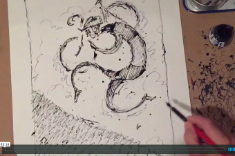Time-lapsed Cyclocross drawing