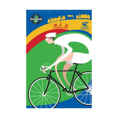 Gran Fondo NJ 2015 Signed Cycling Art Print