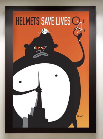 Helmets Save Lives Framed