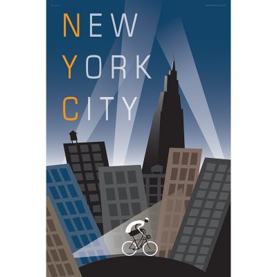 New York City Bicycle Poster