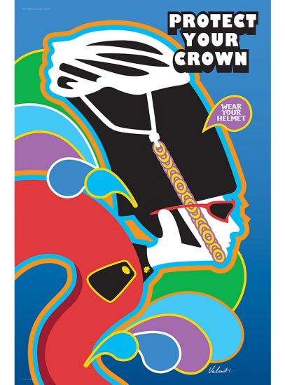 Protect Your Crown   Cycling Art Print   Valenti