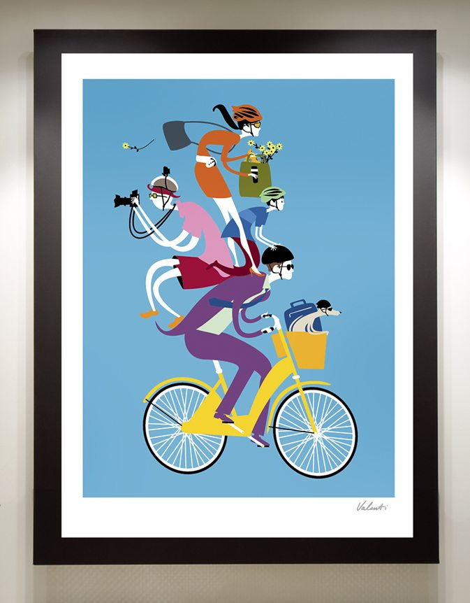 18x24 Signed Cycling Print