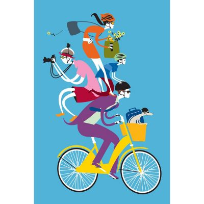 Share the Love Bicycle Poster
