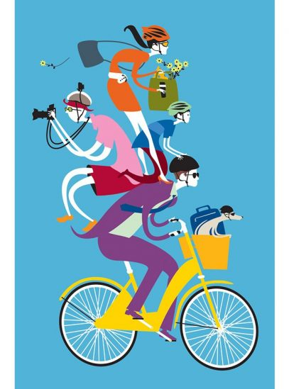 Share the Love | Cycling Art Print