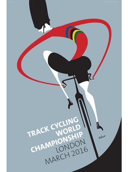 London Track Cycling Art Print   Valenti