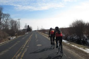 Spring Cycling. Not always easy going.