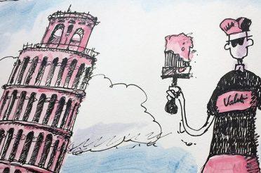 Painting Pisa Pink.