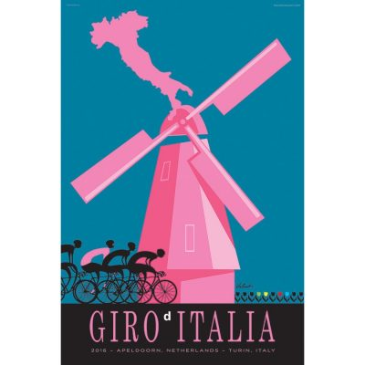 Giro d'Italia Windmill Cycling Art Print