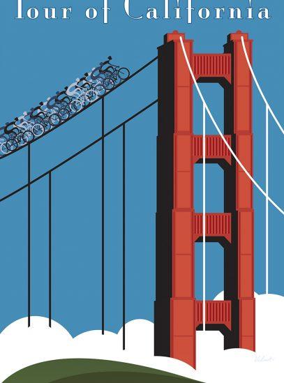 Tour of California Cycling Art Print