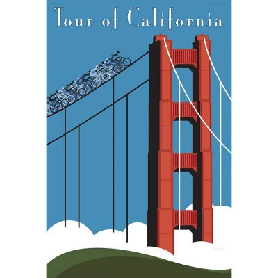 Tour of California Cycling Art Print