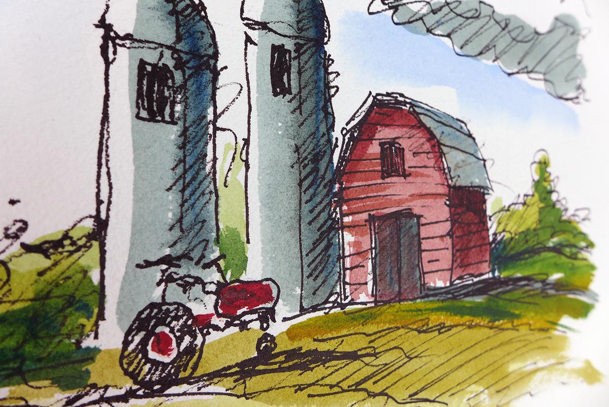 Morning Ride_barn