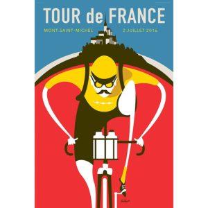 Tour de France Saint Michel Cycling Art Print