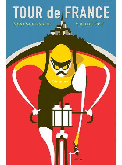 Tour de France Saint Michel | Cycling Art Print