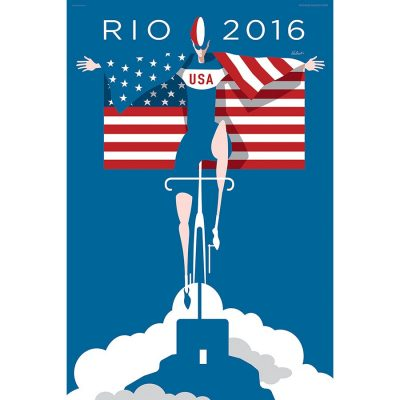 Rio 2016 Olympics USA Cycling Art Print