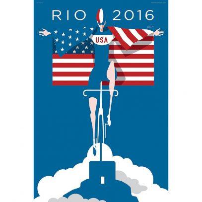 Rio 2016 Cycling Art Print | Valenti