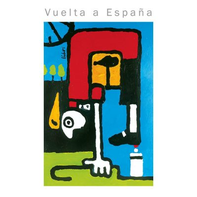 Vuelta Rider in Red | Cycling Art Print