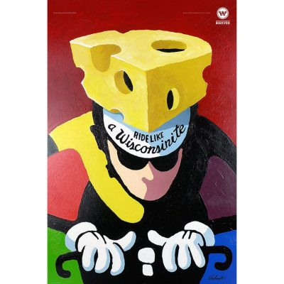 Ride like a Wisconsinite | Cycling Art Print