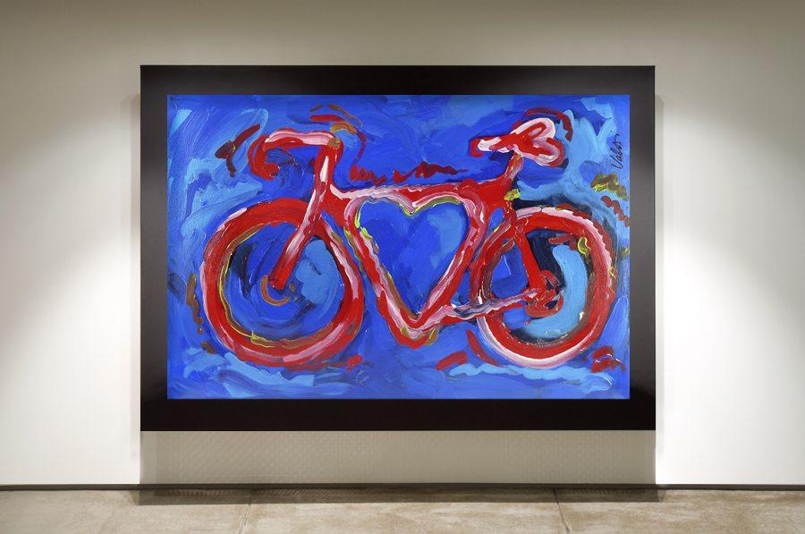 Love is Blue Framed