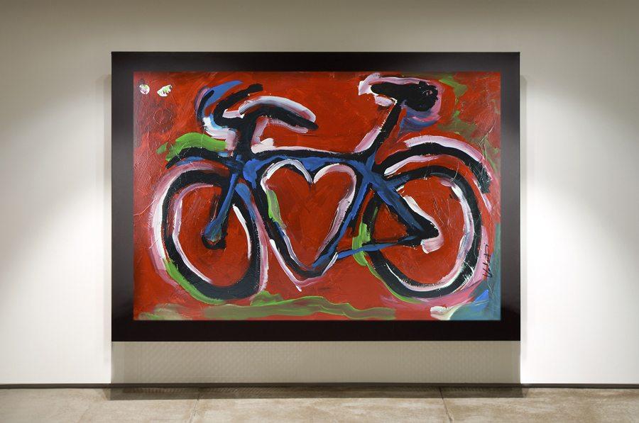 Red Love Bike in Frame