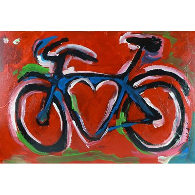 Red Love Bike | Original Cycling Art
