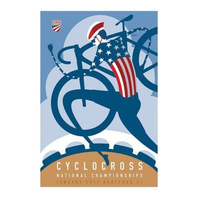 USA Cyclocross Championship | Cycling Art Print